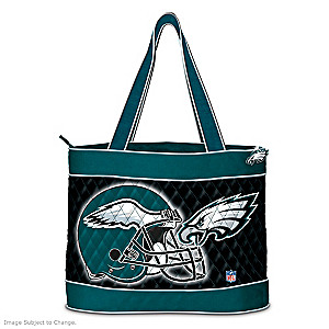 Philadelphia Eagles Tote Bag With Free Cosmetic Case