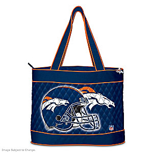 Denver Broncos Tote Bag With Free Cosmetic Case