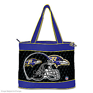 Baltimore Ravens Tote Bag With Free Cosmetic Case
