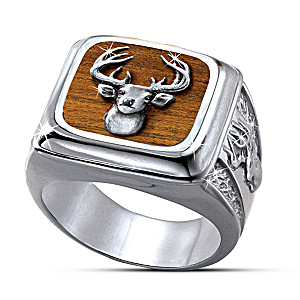 """The Trophy"" 10-Point Buck Sportsmen's Ring"