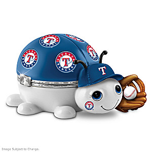 Texas Rangers Love Bug Heirloom Porcelain Music Box