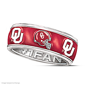 Oklahoma Sooners Unisex Ring With Spinning Band
