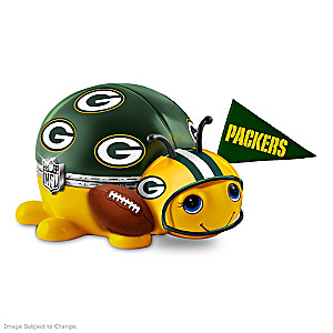 Green Bay Packers Love Bug Porcelain Music Box
