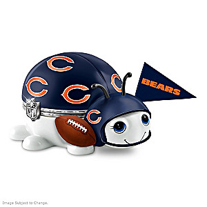 Chicago Bears Bug Heirloom Porcelain Music Box