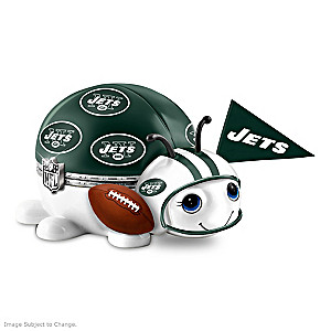 New York Jets Bug Heirloom Porcelain Music Box