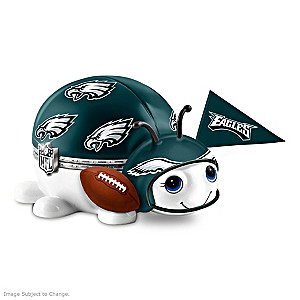 Philadelphia Eagles Bug Heirloom Porcelain Music Box