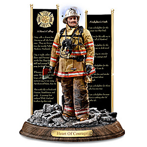 Firefighter Sculpture Supports Emergency Responder Charity