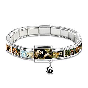 John Seerey-Lester Wildlife Art Italian Charm Bracelet