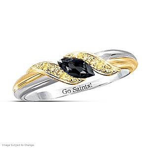 """Pride Of New Orleans"" Sapphire Engraved Embrace Ring"
