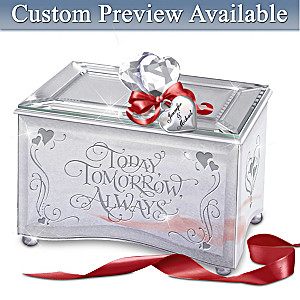 Personalized Romantic Mirrored Music Box With Original Poem
