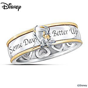 """Some Days Look Better Upside Down"" Eeyore Spinning Ring"