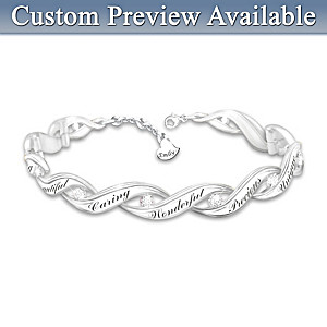 Personalized Diamond Bracelet For Daughters