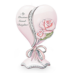 My Precious Granddaughter Heart-Shaped Porcelain Music Box