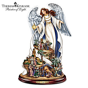 Nativity Sculpture With Recording By Thomas Kinkade