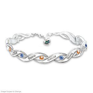 """Florida Gators Pride"" Bracelet With Logo Heart Charm"