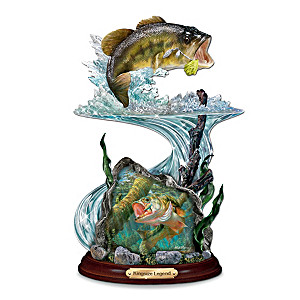 Largemouth Bass Sculpture With Mark Susinno Artwork