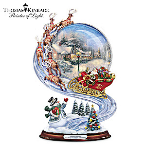Thomas Kinkade Christmas Sleigh Ride Musical Sculpture