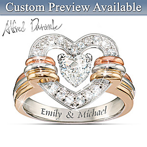 "Alfred Durante ""Heart Full Of Love"" Personalized Ring"