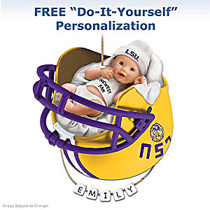 "Personalized ""Tigers Fan"" Baby's First Christmas Ornament"