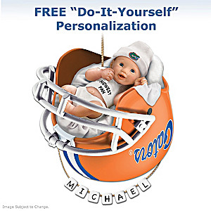 "Personalized ""Gators Fan"" Baby's First Christmas Ornament"