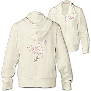 """Celebrate Life"" Breast Cancer Support Women's Hooded Jacket"