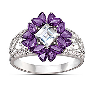 """Twilight Lavender"" Amethyst And Topaz Ring"
