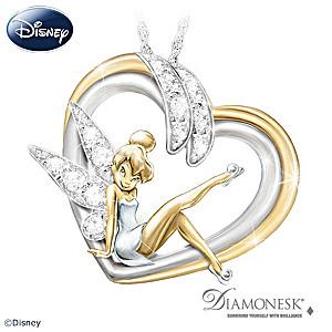 "Tinker Bell ""Embrace The Magic"" Diamonesk Pendant Necklace"