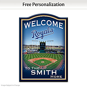 Royals Wooden Welcome Sign Personalized With Name