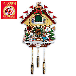 Rudolph The Red-Nosed Reindeer 50th Anniversary Wall Clock
