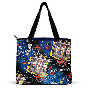 """Lucky And Loving It"" Tote Bag With FREE Cosmetic Case"