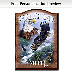 Al Agnew Wooden Welcome Sign Personalized With Name