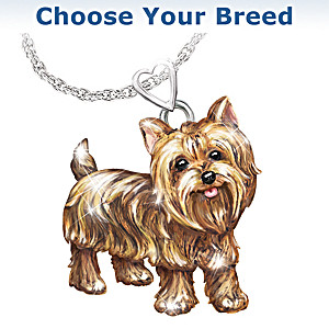 Dog Lovers Playful Pup Diamond Pendant