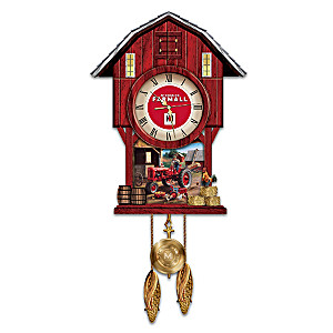 """Farmall Times"" Barn-Shaped Wall Clock"