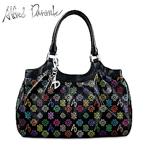 "Alfred Durante ""Monaco"" Signature Handbag With A.D. Monogram"