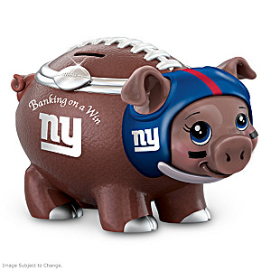 New York Giants Porcelain Football Piggy Bank