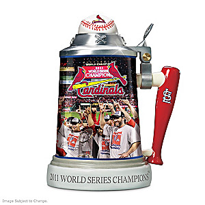 St. Louis Cardinals 2011 World Series Porcelain Stein