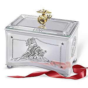 Reflections Of A Hero United States Marine Corps Music Box