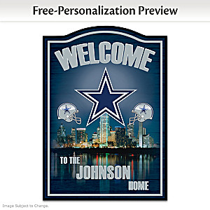 Dallas Cowboys Wooden Welcome Sign Personalized With Name