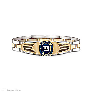 New York Giants Men's Stainless Steel Bracelet