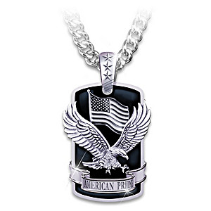 """American Pride"" Pendant With Sculpted Patriotic Motifs"