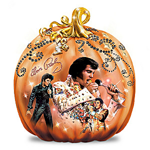 "Elvis ""Takin' Care Of Halloween"" Pumpkin Sculpture"