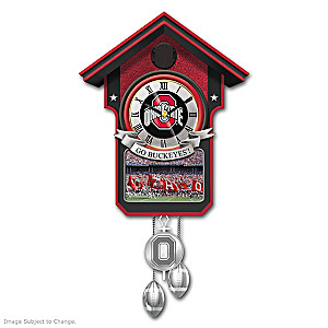 Ohio State University Buckeyes Wall Clock