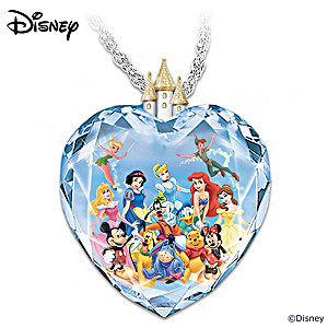 """Magic of Disney"" Crystal Heart Pendant Necklace"