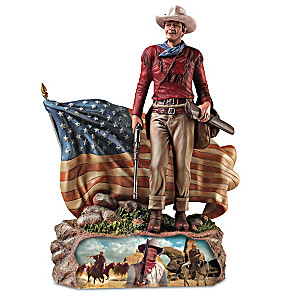 Patriotic Sculpture Honors American Hero John Wayne