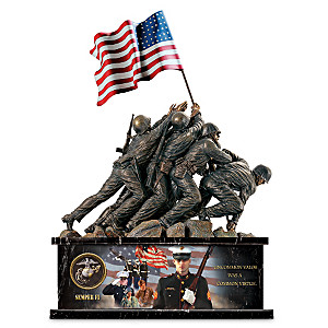 USMC Iwo Jima Memorial Bronzed Sculpture