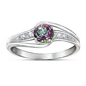 """Mystic Enchantment"" Multi-Colored Topaz Ring"