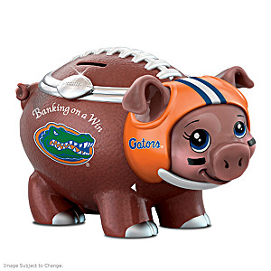 University Of Florida Gators Porcelain Football Piggy Bank