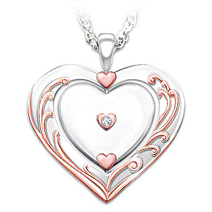 Diamond Pendant With Spinning Heart For Granddaughter