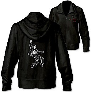 """Rockin' With Elvis"" Women's Front Zip Hoodie"