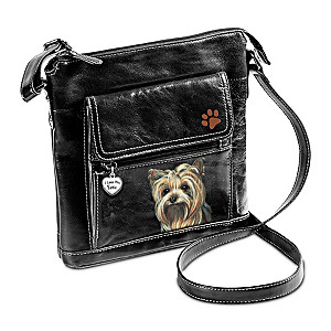 I Love My Yorkie Crossbody Bag With Pollyanna Pickering Art